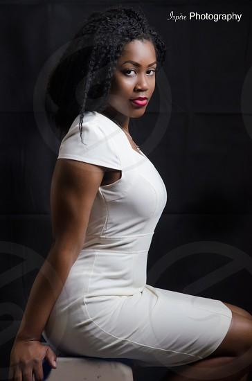 Portrait Lighting beautiful ebony  photo