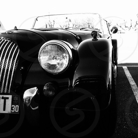 black classic convertible car photo