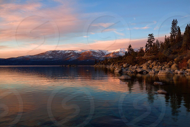 Sunset on Lake Tahoe photo