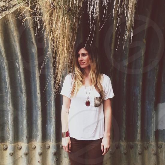 women's white tshirt with pocket photo