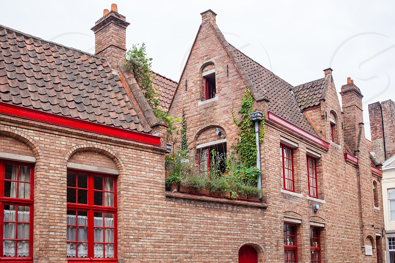 Hauses of the Historic Centre of Bruges Belgium. part of the UNESCO World Heritage site photo