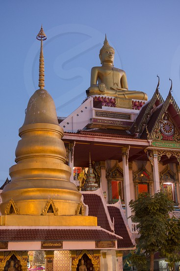 the Temple Wat lamduan at the mekong river in the town of Nong Khai in Isan in north east Thailand photo