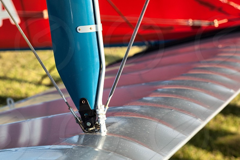 Close-up View of Part of a Vintage Planes Wing photo