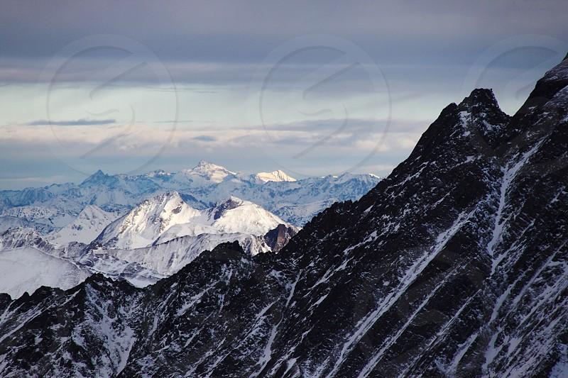Kaprun mountains snow sunset Austria photo