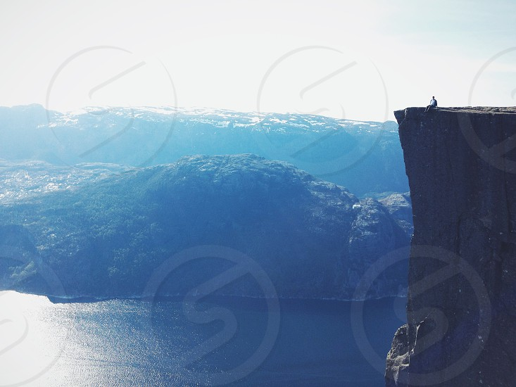 Pulpit Rock Norway Preikestolen Lysefjord Fjord Hiking Adventure Travel photo