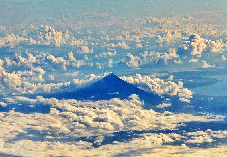 Perfect cone of Mayon Volcano photo