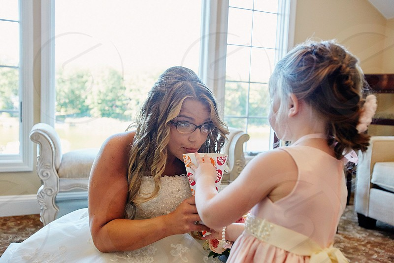 Bridal suite bride flower girls getting ready silly the day wedding day best day ever sharing bride  photo