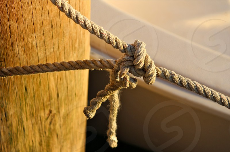 brown rope tied photo
