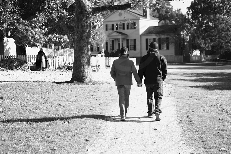 A brisk fall walk in Colonial Williamsburg  photo