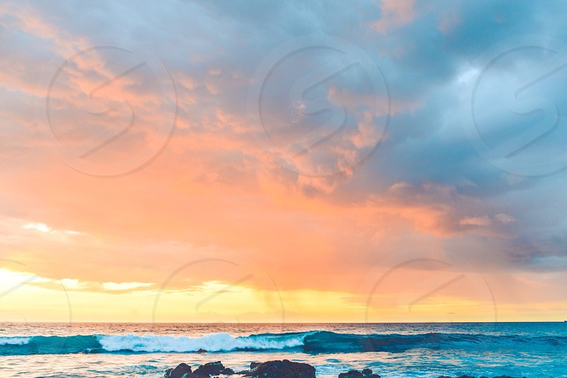 sea and sunset photography  photo