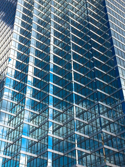 Architecture Dallas Texas detail closeup reflecting glass mirrored pattern photo