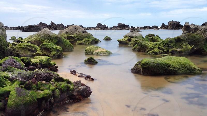 Long exposure on the ocean. photo