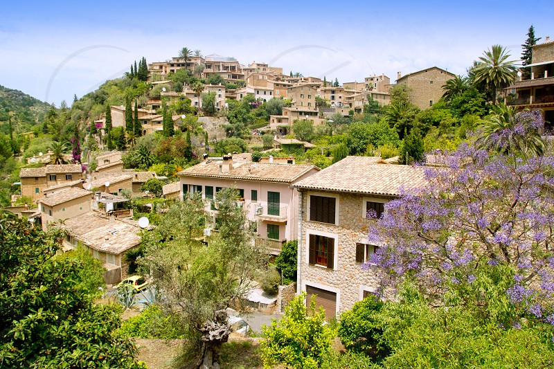 Deia typical stone village in Majorca Tramuntana mountain Balearic Spain photo