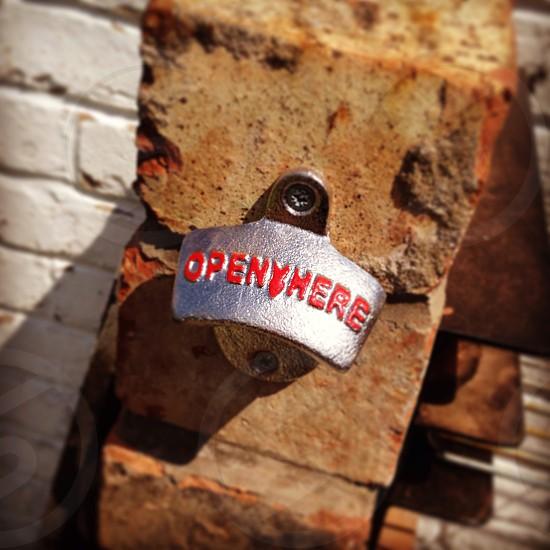 BBQ bottle opener - open here  photo