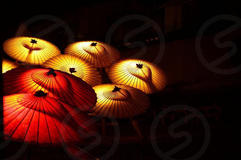 Lantern bamboo light red  photo