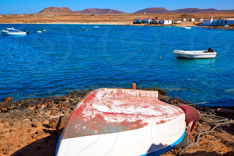 Majanicho village in Fuerteventura Canary Islands of Spain photo