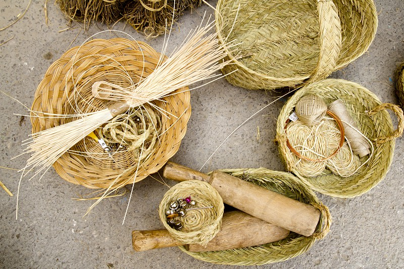 esparto basketry handcrafts Mediterranean Balearic Islands photo