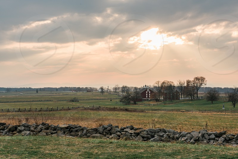 Image of Gettysburg National Military Park taken in the fall. photo