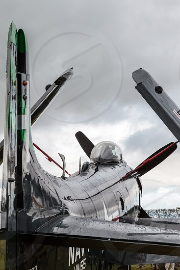 GOODWOOD WEST SUSSEX/UK - SEPTEMBER 14 : Douglas Skyraider parked at Goodwood on September 14 2012 photo