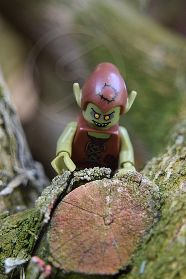 Lego goblin minifigure tree photo