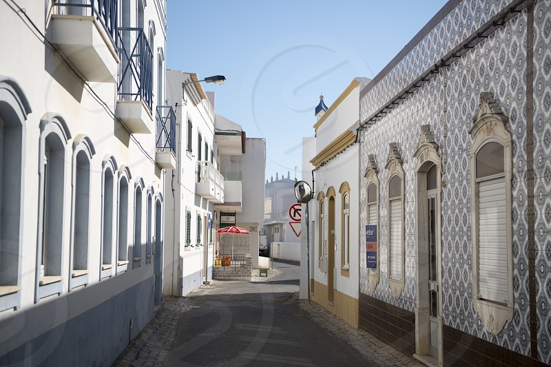 the town of Santa Luzia in the Algarve in the south of Portugal in Europe. photo