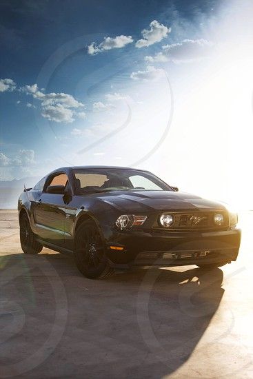 black ford shelby mustang photo