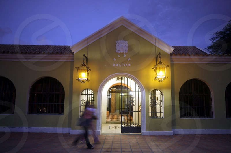 a colonial house and casa de musica casa musica  in the town of Coro in the west of Venezuela. photo