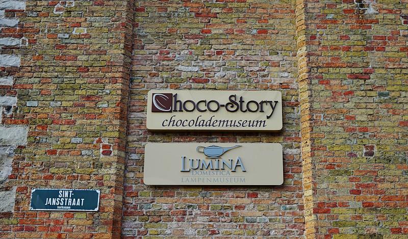 The Choco-Story chocolate museum in Bruges Belgium photo