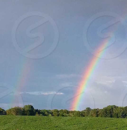 Rainbow over the fields photo