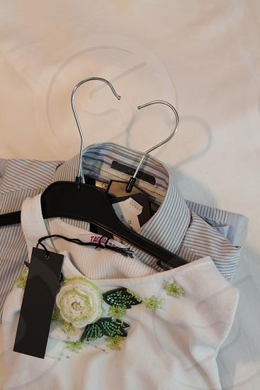 womens white short sleeve sequin flower blouse photo