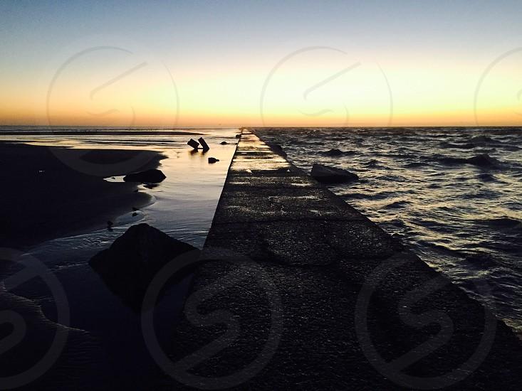 East beach jetty Galveston photo