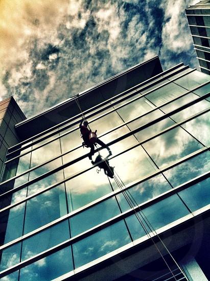 City window washer photo