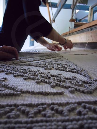 gray and white textile photo