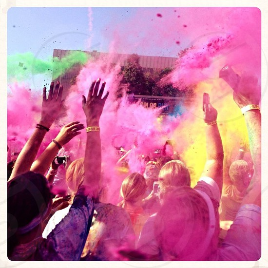 Colors spring pink run photo