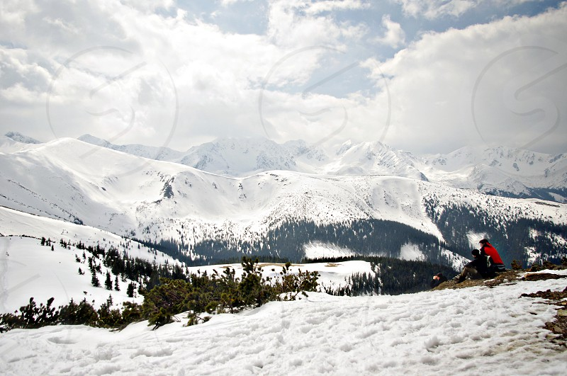 snow winter mountains great weather photo