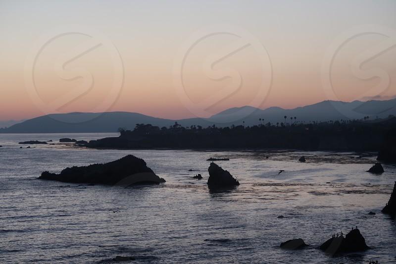 Sunset at Pismo Beach.  photo