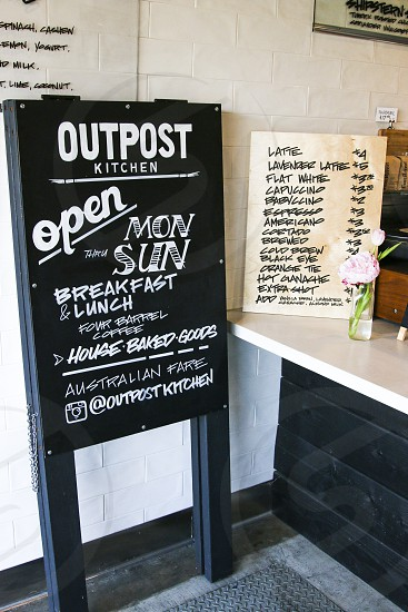 Outpost Kitchen interior signs photo