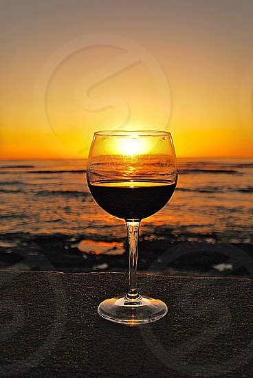 Wine at Sunset  Westside Oahu HI photo