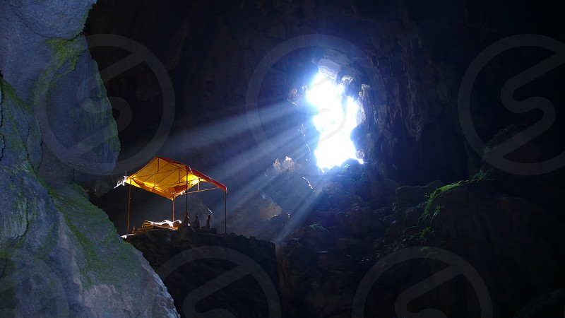 Secret cave on a travel adventure Laos photo