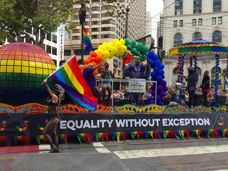 San Francisco Pride Parade. Equality Without Measure. Love wins. photo