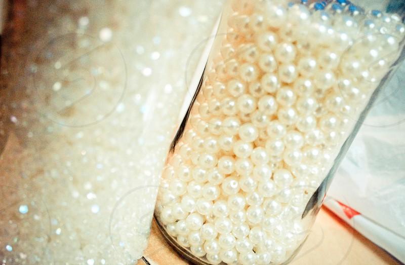 pearls pearl bead beads circle white circles  photo