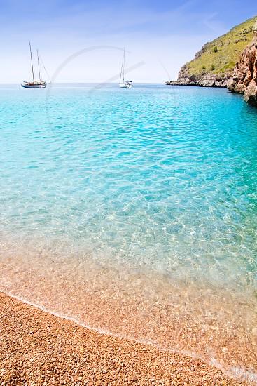 Escorca Sa Calobra beach in Mallorca balearic islands Torrent de Parlos photo