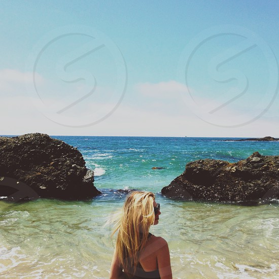 black one piece bathing suit photo