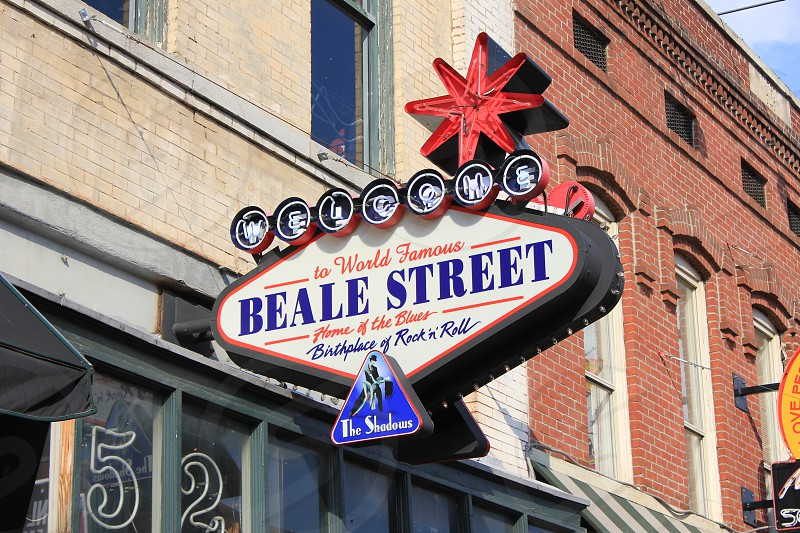 Beale Street Sign at the Birthplace of Rock & Roll Memphis TN photo