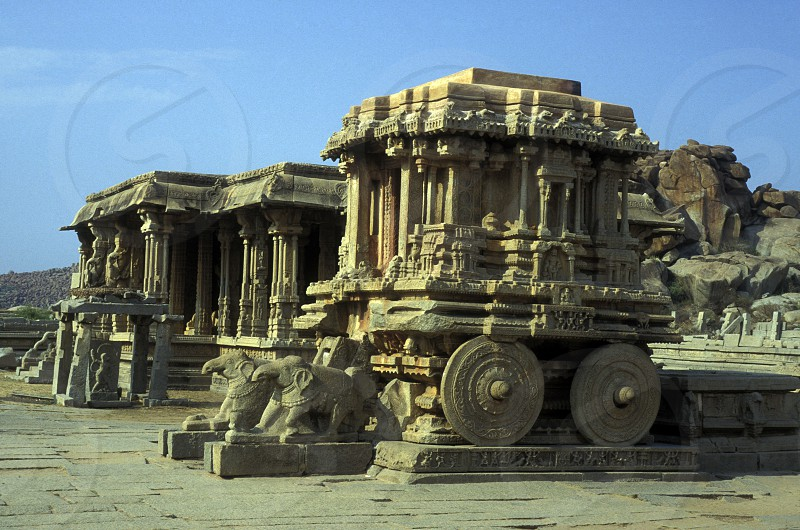 The Ruins of Hampi in the province of Karnataka in India. photo