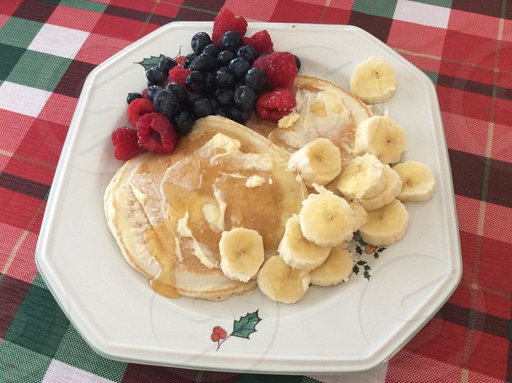 Pancakes and fruit  photo