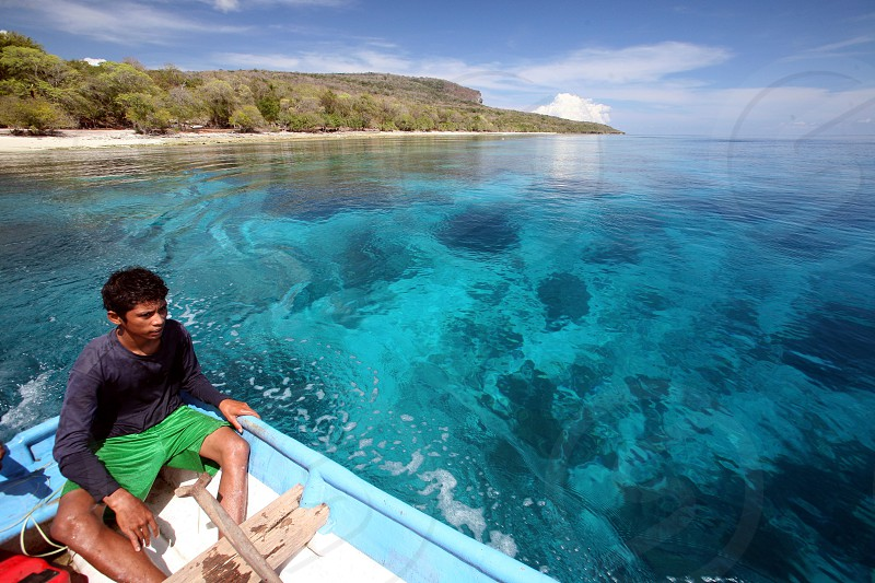 the dreambeach at the Jaco Island at the town of Tutuala in the east of East Timor in southeastasia.