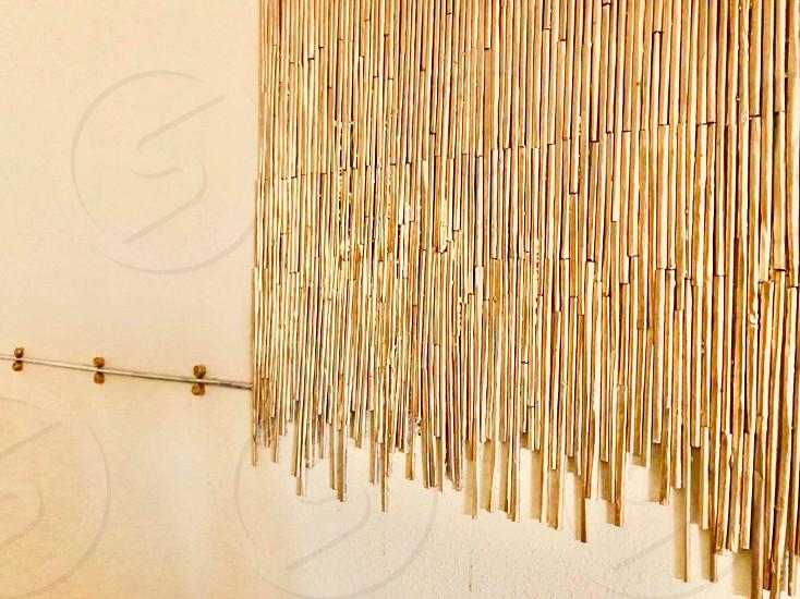 Golden handmade decorations paper crafts photo