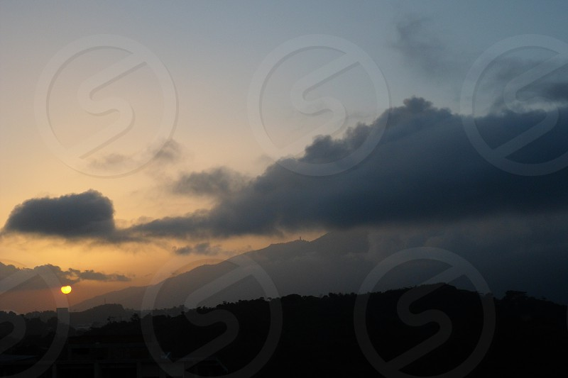 Avila Mountain Caracas - Venezuela Sunset photo