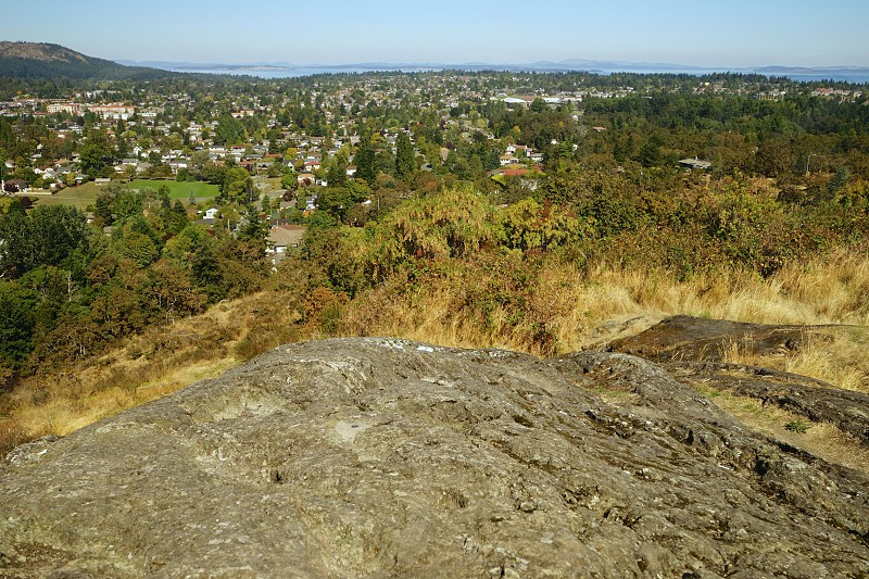 scenery rocks hill mountain view town pinnacle climb ascend distance healthy photo